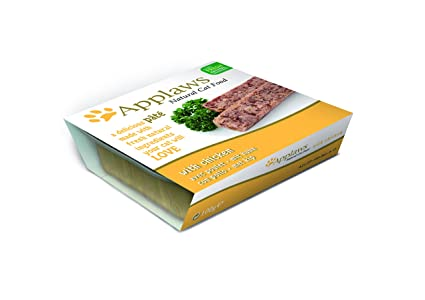 Applaws - Pollo para comida de gatos, 100 g, 10 unidades