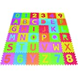Poco Divo 36 Tiles EVA Foam Rainbow Letters and Numbers Puzzle Play Mat