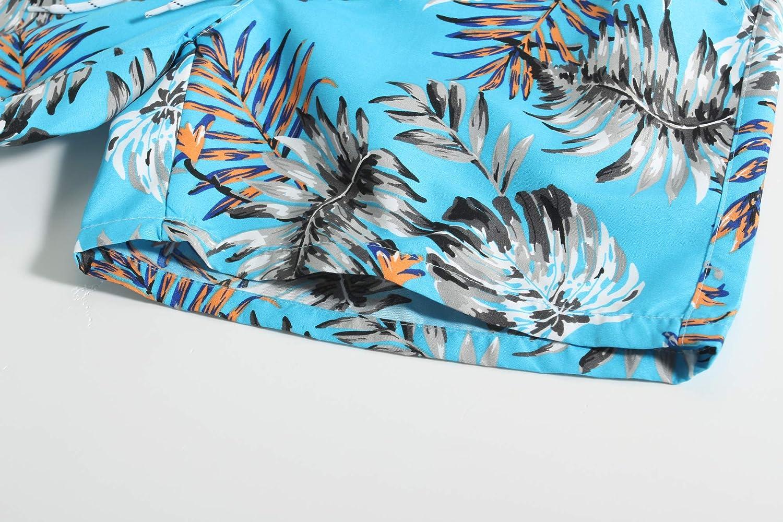 SSLR Big Boys Printed Casual Quick Dry Shorts Hawaiian Swim Trunks