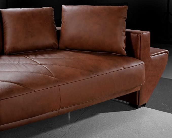Astonishing Amazon Com Vig Furniture Jupiter Brown Leather Sectional Alphanode Cool Chair Designs And Ideas Alphanodeonline