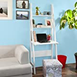 SoBuy® Libreria scaffale,Mensole da angolo,Scaffale componibile,Scrivanie,bianco, FRG60-W,IT