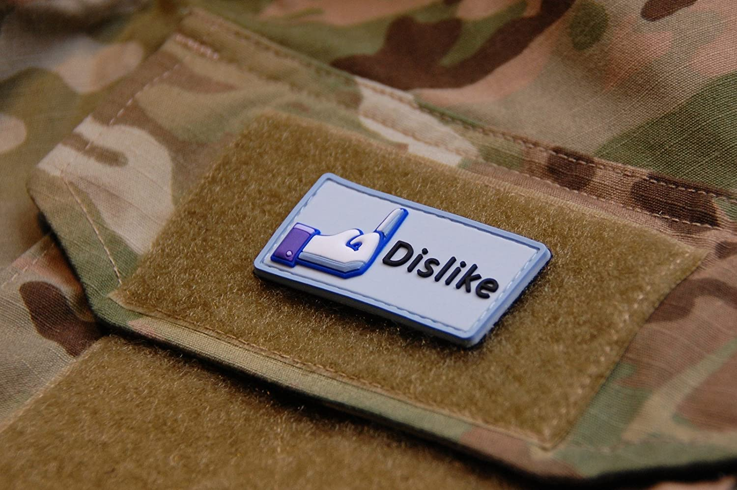3d PVC Facebook Dislike Velcro Morale Patch Army Military