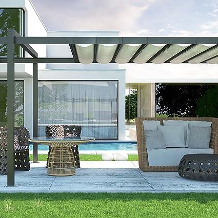 Amazon Com E K Sunrise 12 X 18 Waterproof Sun Shade Sail Light Grey Straight Edge Rectangle Uv Block Durable Awning Perfect For Canopy Outdoor Garden Backyard Customized Garden Outdoor