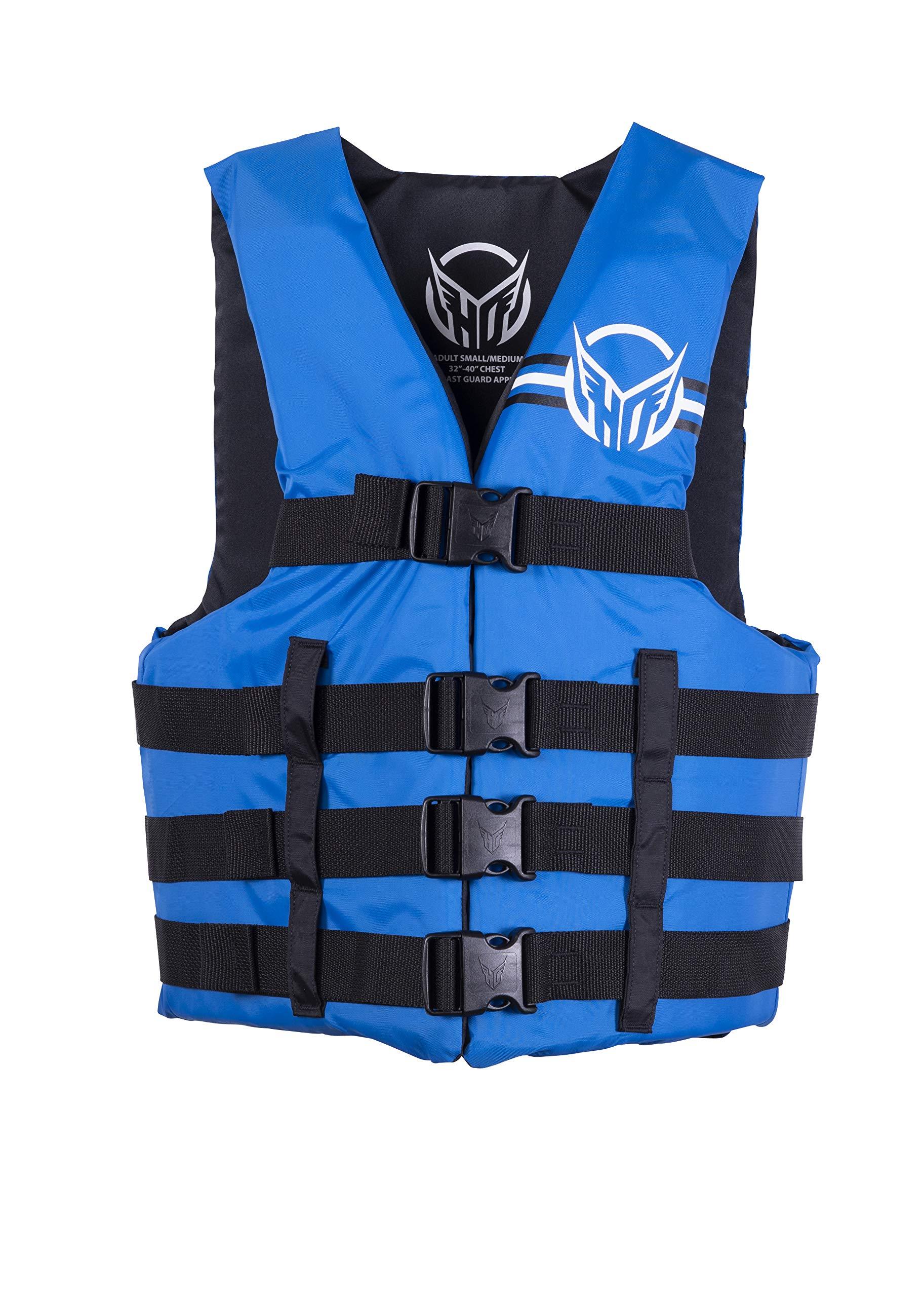 HO Sports Mens Universal Ski Wakeboard Wakesurf Vest Jacket Blue S/M by HO