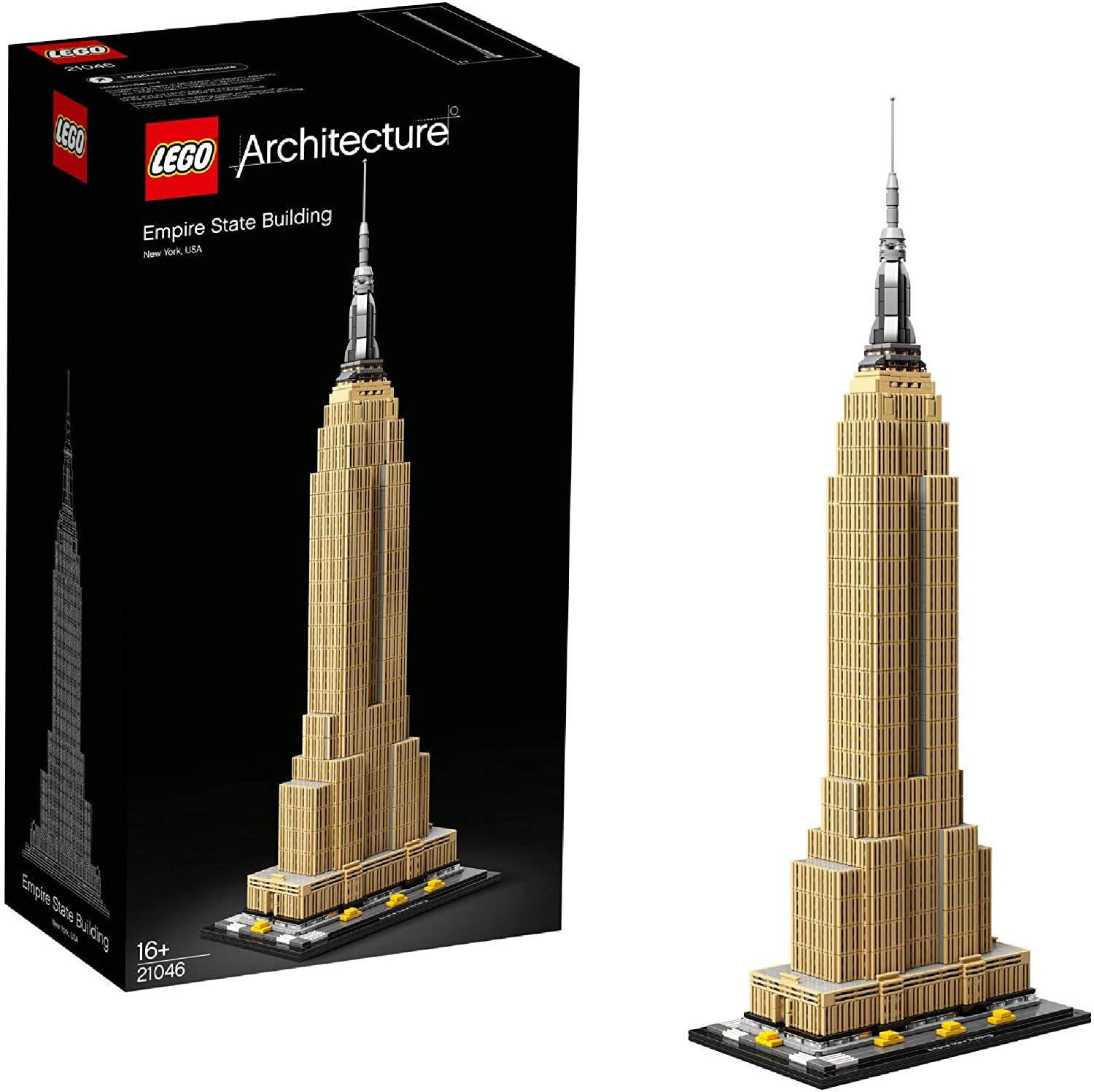 Lego 21046 Architecture Empire State Building New York Landmark Collectible Model Building Set Amazon Co Uk Toys Games