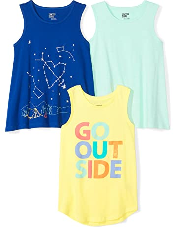 498e7b8443e515 Amazon Brand - Spotted Zebra Girls  3-Pack Sleeveless Tank Tops