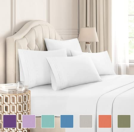 King Fitted Sheet Soft Comfy /& Premium Bedding Poly Cotton Double Single