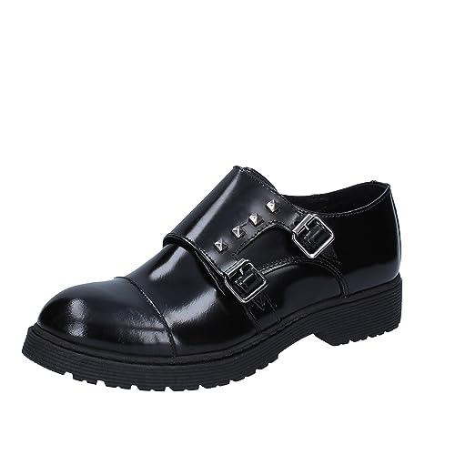 4dc5fcb3da8 ISLO Isabella LORUSSO - Zapatos de Cordones de Piel para Mujer Negro Negro  Negro Size  39  Amazon.es  Zapatos y complementos