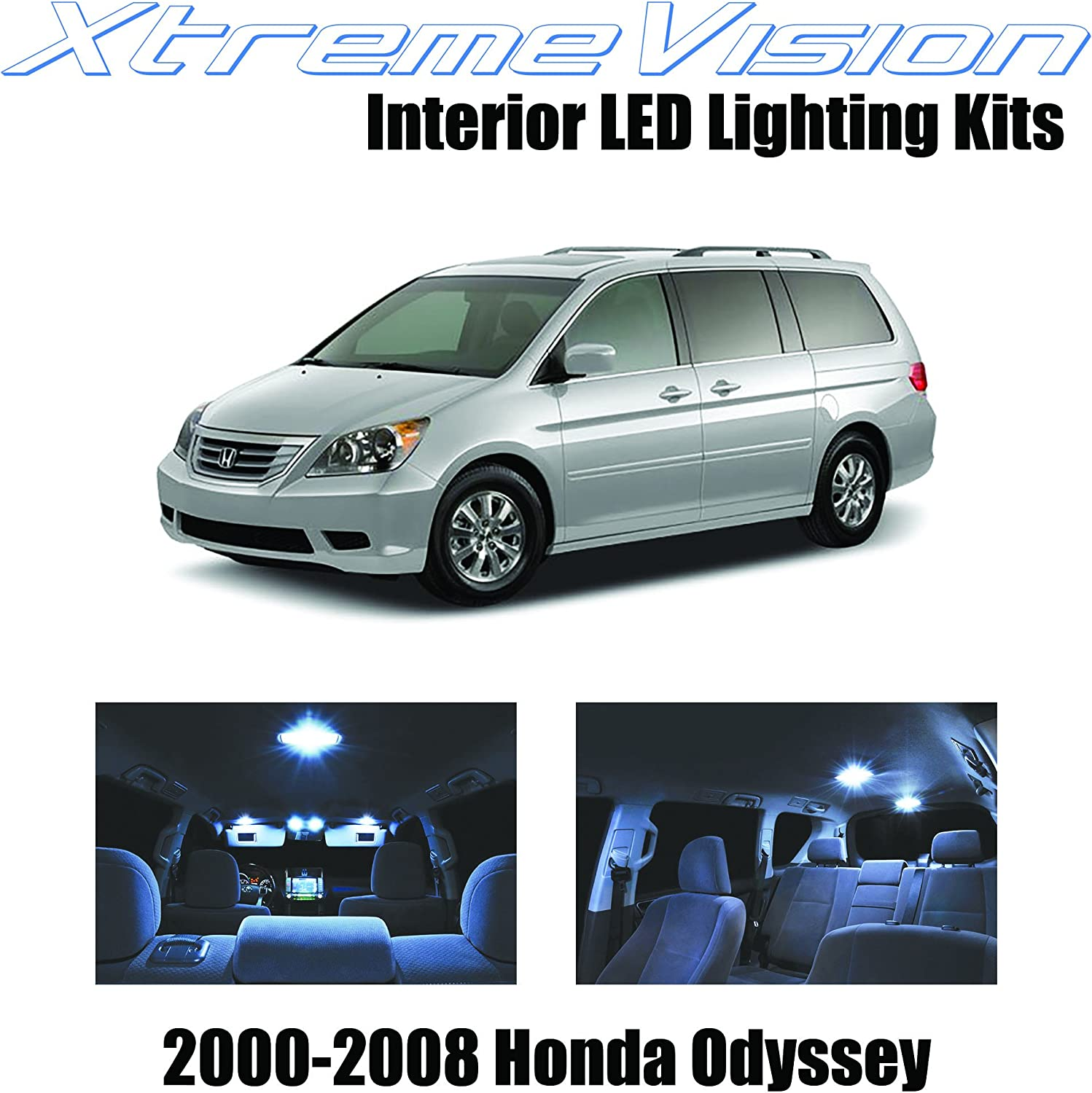 amazon com xtremevision interior led for honda odyssey 2000 2008 12 pieces cool white interior led kit installation tool automotive xtremevision interior led for honda odyssey 2000 2008 12 pieces cool white interior led kit installation tool