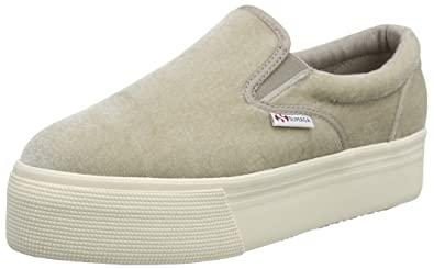 Superga Damen 2314 Velvetw Slip on Sneaker, Grau (Light Grey 950), 39 EU