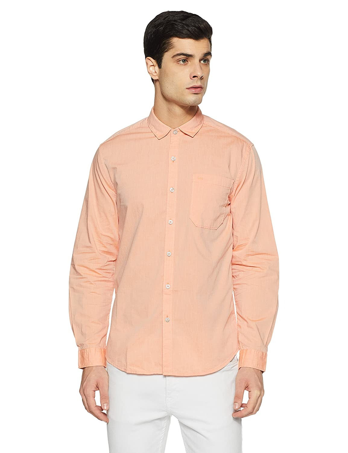 Lee Men's Solid Slim Fit Casual Shirt – Size XL