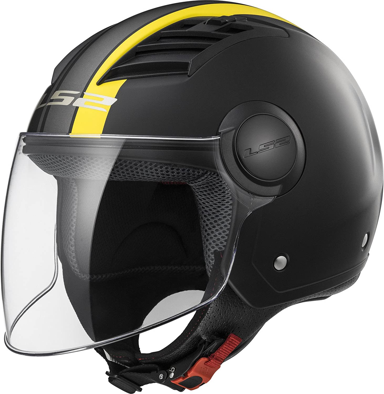 LS2/Casco Moto of562/Airflow Metropolis XS Matt black//yellow Long