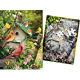 Keeping Busy Singing Around the Birdhouse 35 Piece Dementia and Alzheimer's Sequenced Jigsaw Puzzle Engaging Activity for Older Adults