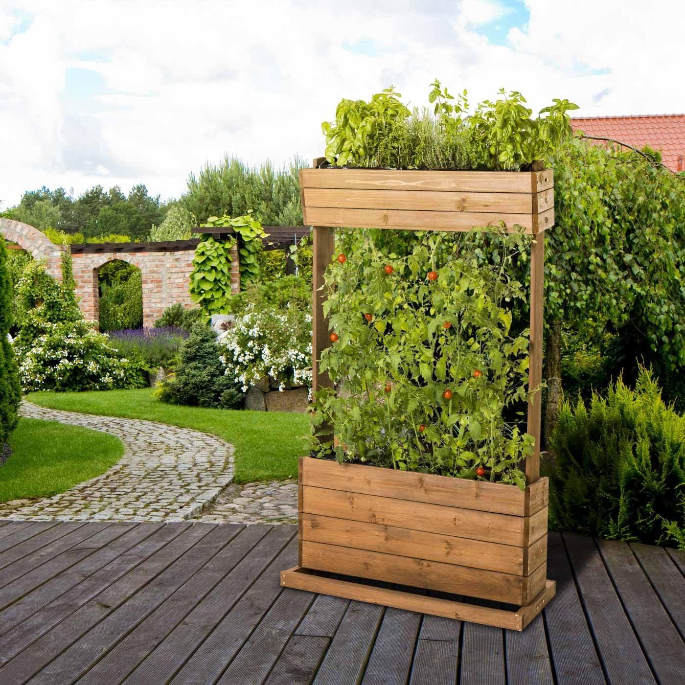 Trona de madera de cama HE2, diseño de hierbas de tierra de ...