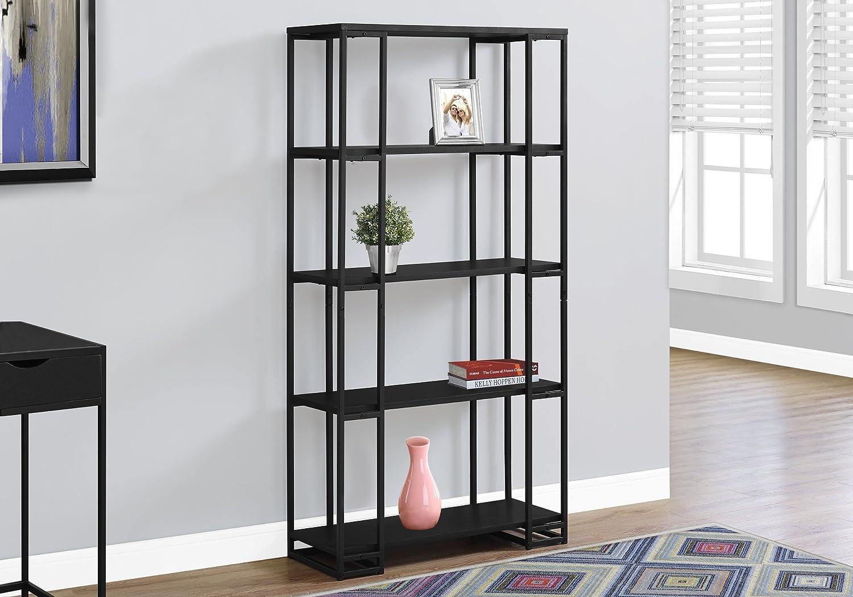 Monarch Specialties I Bookcase-60 H Metal, Black