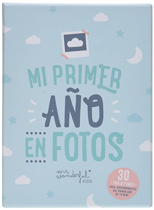 Tarjetas Mr. Wonderful para recordar mi primer año en fotos ...