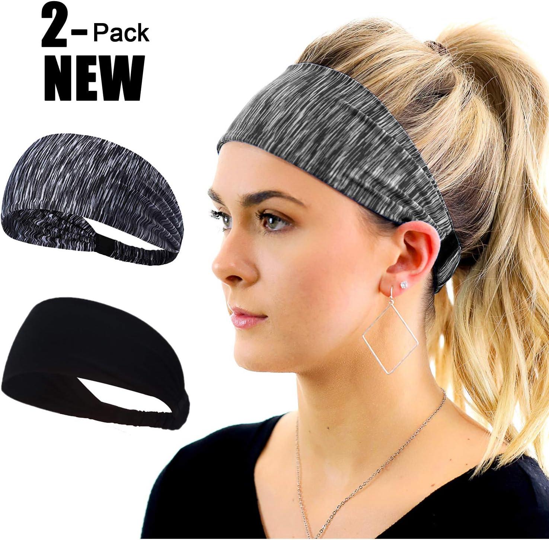 Women/'s Men/'s Elastic Wide Headband Sweatband Sports Yoga Gym Running Hair Bands