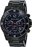 Michael Kors MK8161 - Reloj con correa de caucho para hombre, color negro / gris