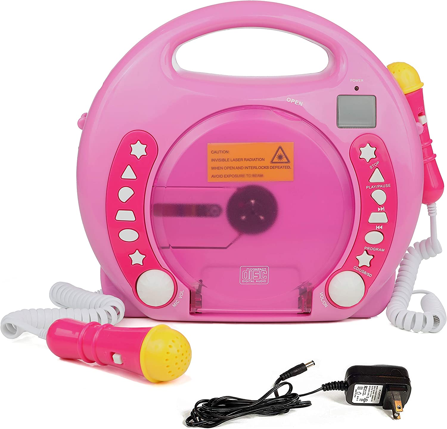 IQ Toys Anti Skip CD-USB-SD Player with 2 Microphones
