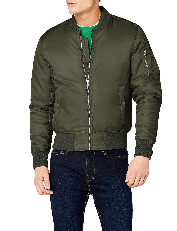TALLA XL. Urban Classics Basic Bomber Jacket Chaqueta para Hombre