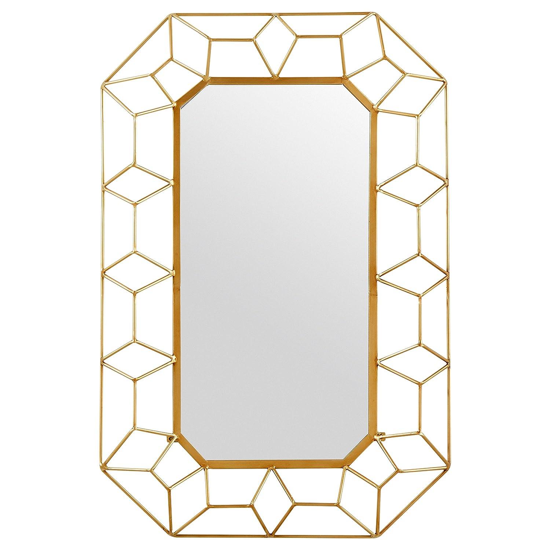 6f5fbfb998c Amazon.com  Stone   Beam Diamond Shape Metal Frame Mirror