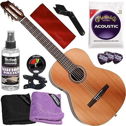 La Patrie Collection Guitarra clásica con afinador y paquete de ...