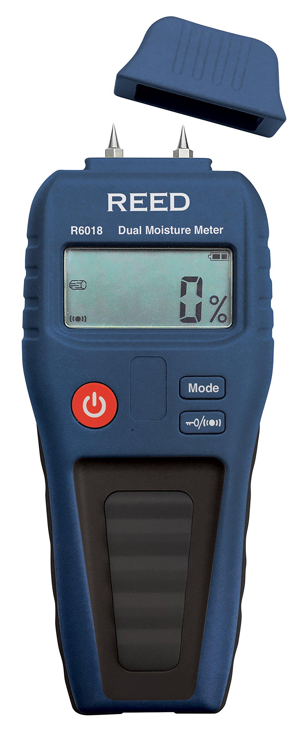 REED Instruments R6018 Dual Moisture Meter, Pin/Pinless
