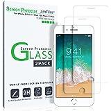 iPhone 8 Plus 7 Plus 6S Plus 6 Plus Screen Protector, amFilm iPhone 8 Plus, 7 Plus Tempered Glass Screen Protector for Apple iPhone 8 Plus, 7 Plus, iPhone 6S Plus, 6 Plus 2017, 2016, 2015 (2-Pack)