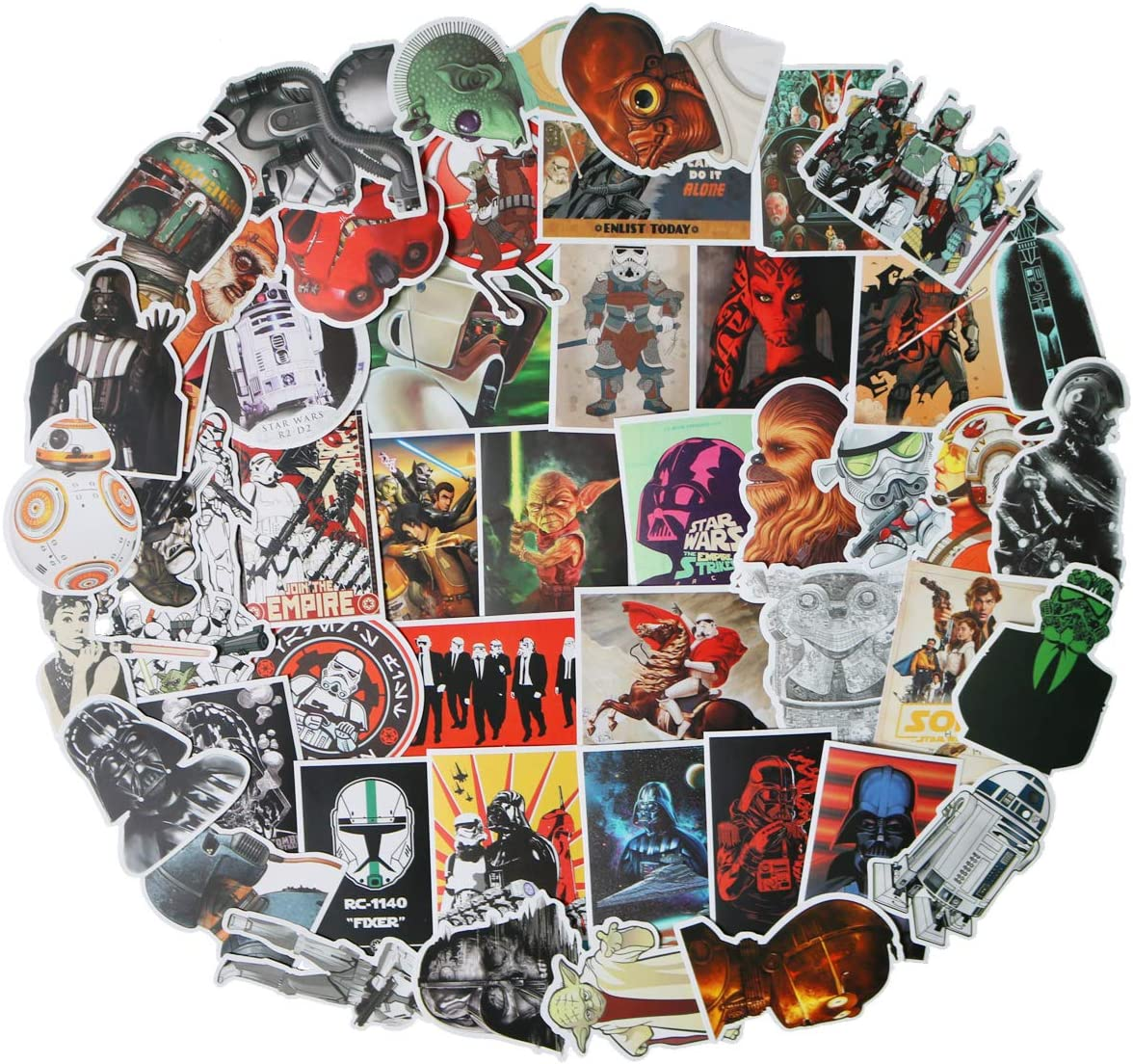Decal Stickers 50 PCS Star Wars Laptop Sticker Waterproof Vinyl Stickers Car Sticker Motorcycle Bicycle Luggage Decal Graffiti Patches Skateboard Sticker (Star Wars)