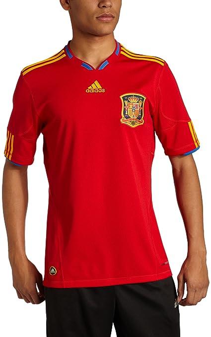 Amazon.com   adidas Spain 2010 Jersey   Sports Fan Soccer Jerseys ... 057fd92e0