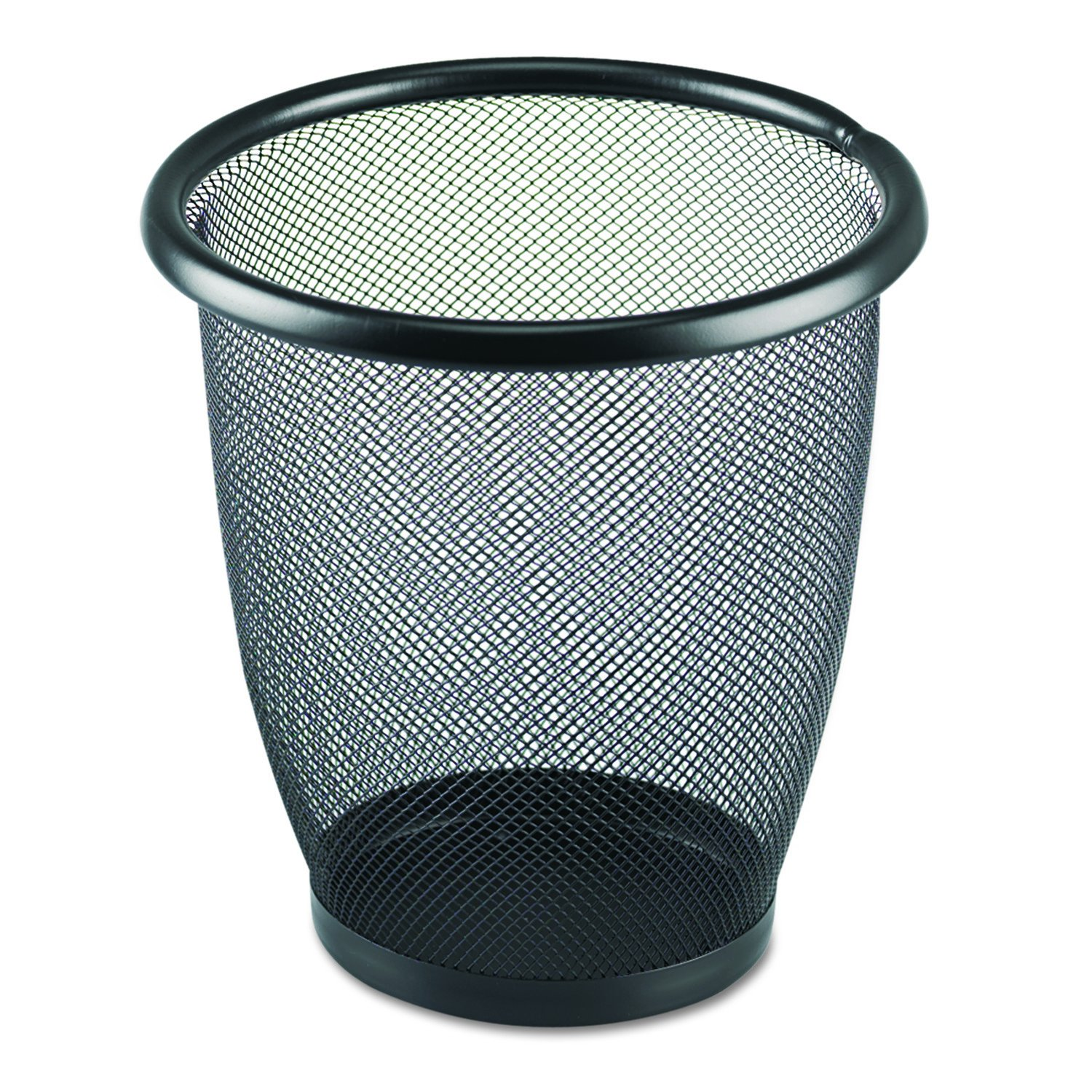 Amazon.com: Safco Products 9716BL Onyx Mesh Small Round Wastebasket ...