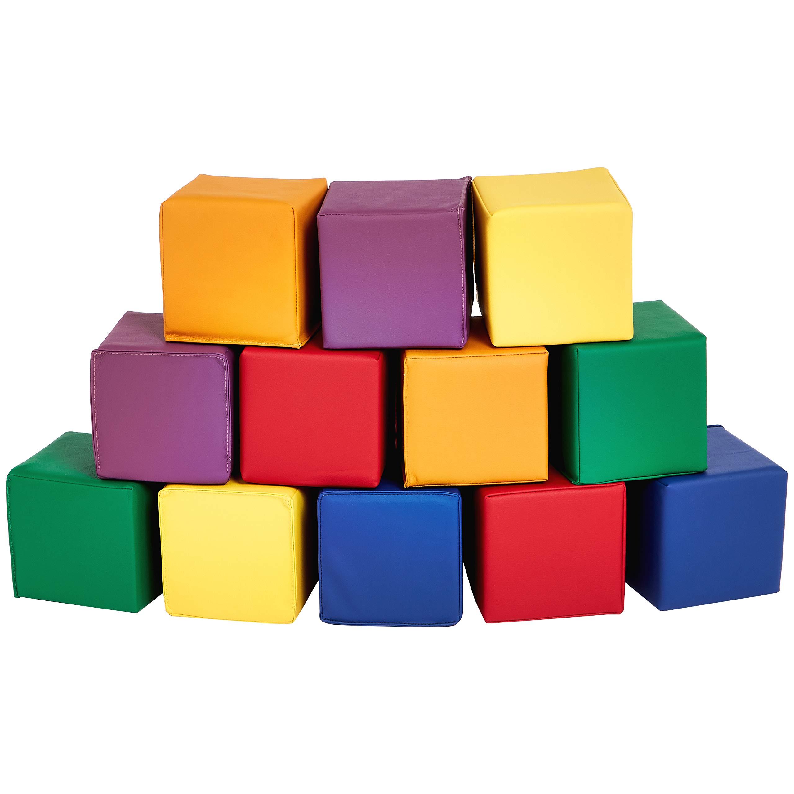 Amazon Basics Soft Play Blocks, Small Set, 12-Piece