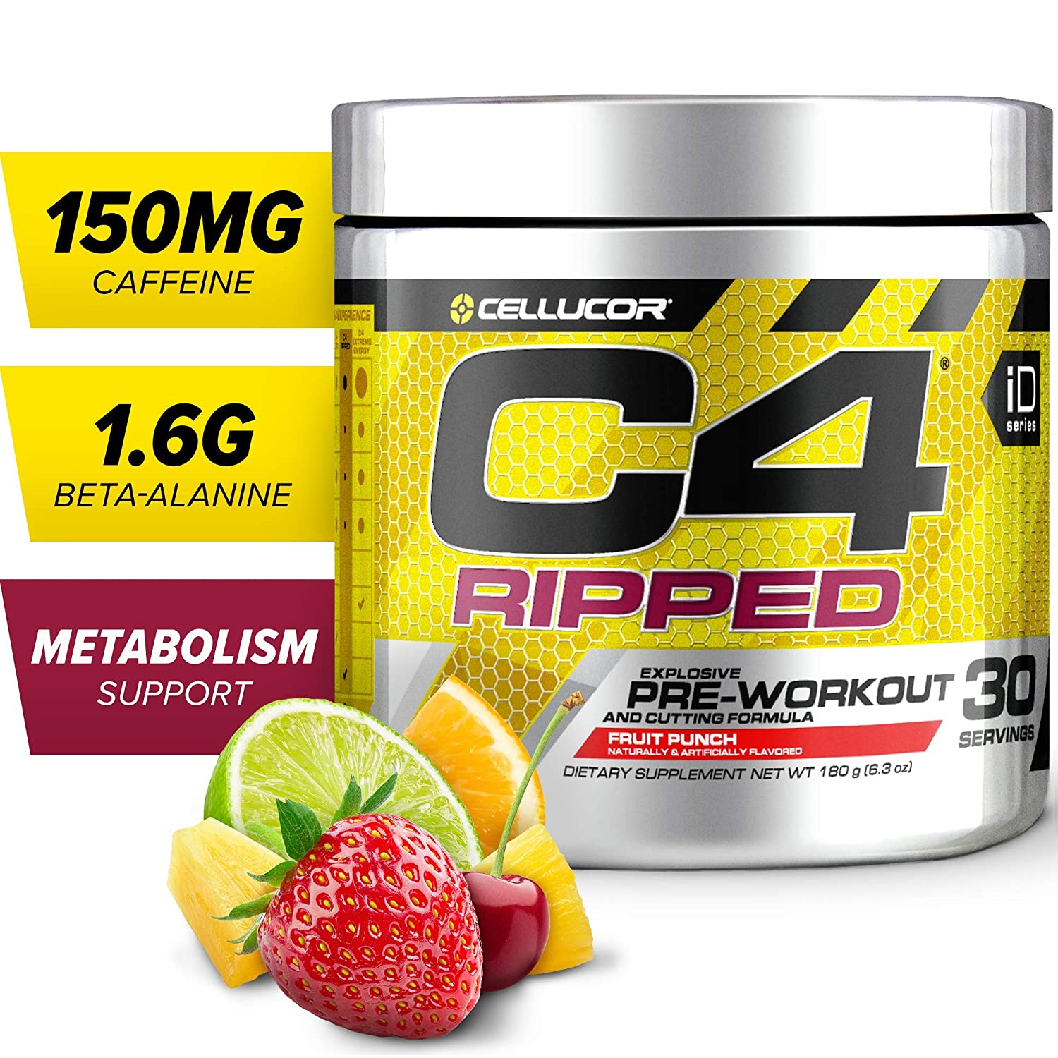 9. C4 Ripped Pre-Workout Without Creatine