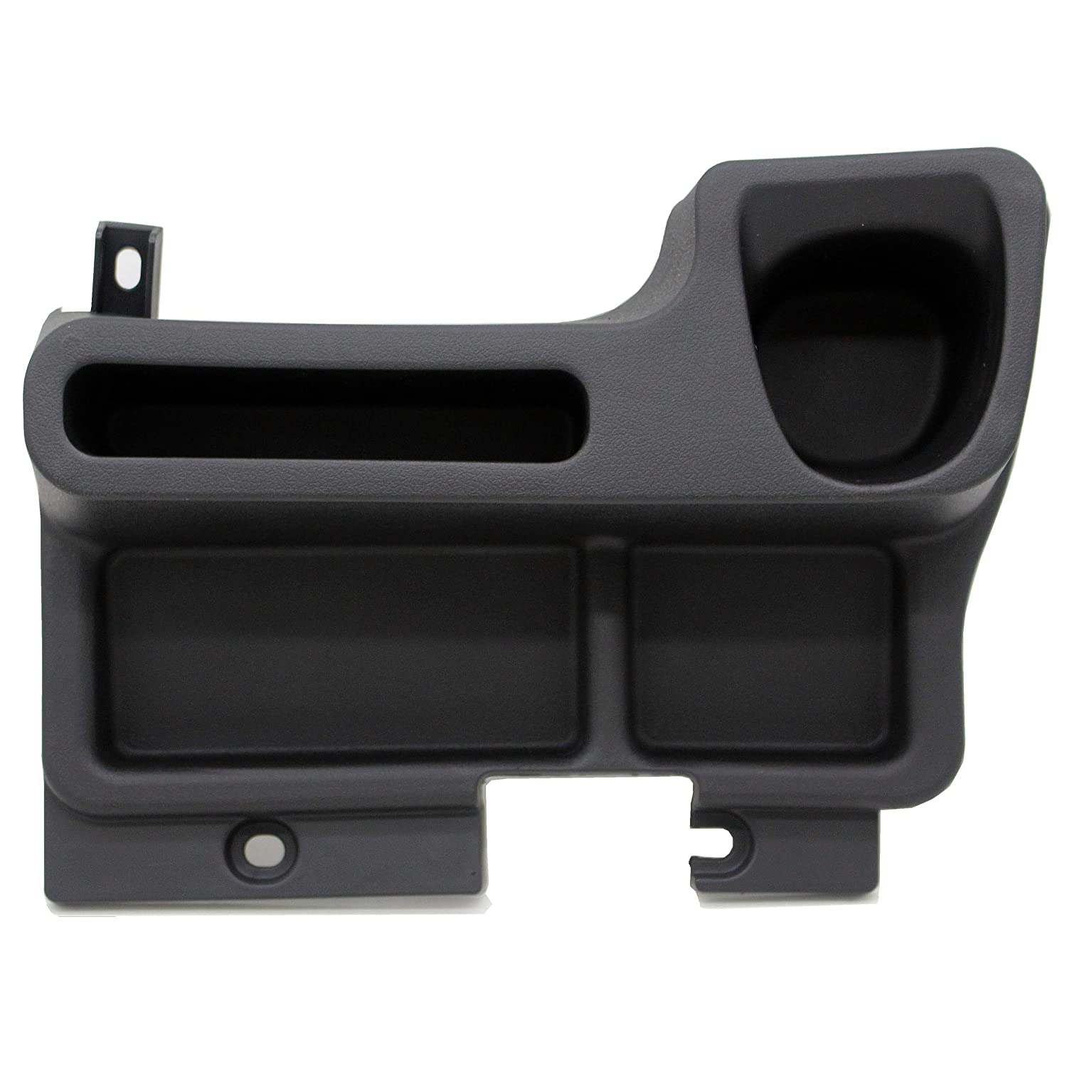 Ezzy Auto Black Center Console Tray Box Cup Holder add-on Compatible with Toyota Land cruiser LC70 LC71 LC76 LC77 LC79