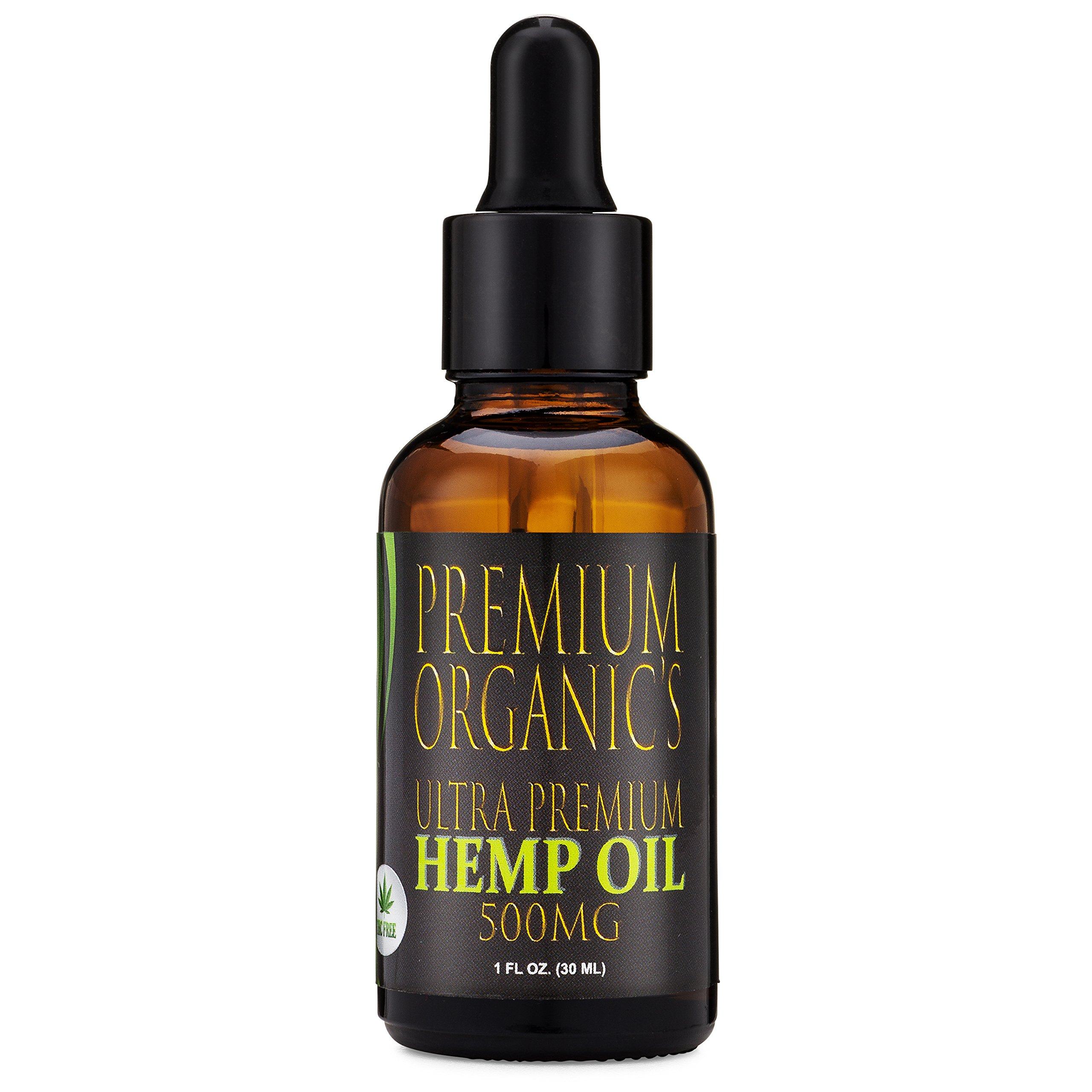 Hemp Oil for Pain Relief :: Stress Relief :: Anti Anxiety Supplements:: Herbal Drops :: Rich in Omega 3 and Omega 6 Fatty Acids :: Natural Anti Inflammatory :: 1 Fl Oz. (30ml)