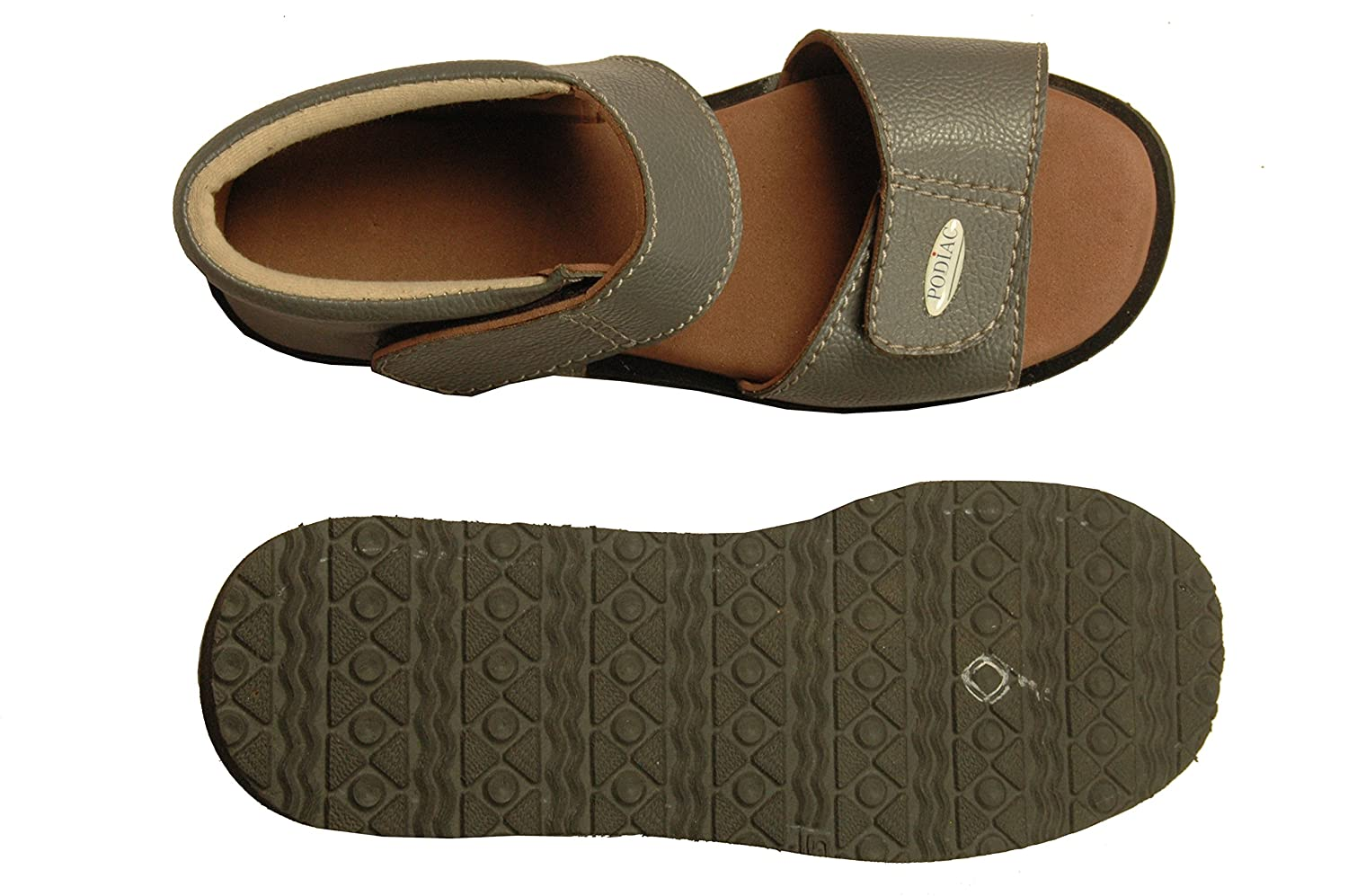 16442d53fd4b PODIAC ELITE PLUS GREY RUBBER CASUAL SANDAL FEMALE  Buy Online at Low Prices  in India - Amazon.in