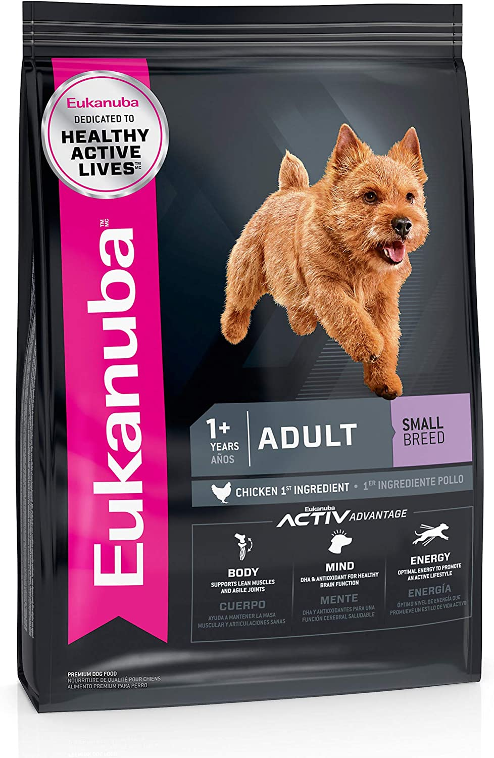 Eukanuba Adult Small Breed Dry Dog Food, 15 lb. bag