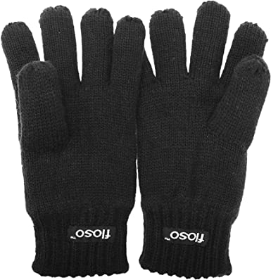 Thinsulate Boys Kids 3M 40g Winter Warm Thin Knitted Thermal Inner Gloves