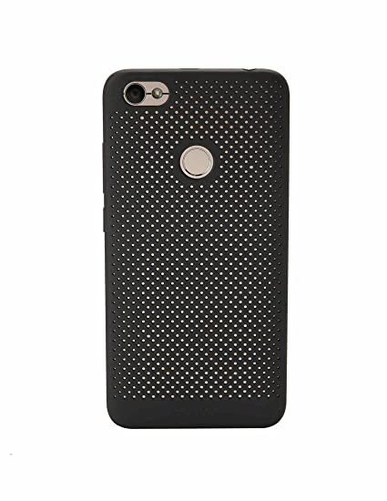 buy online 45b9f ca458 Mi ATF4832IN Perforated Phone Case for Redmi Y1 (Black)