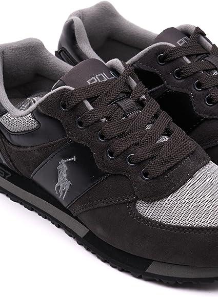 Ralph Lauren zapatos zapatillas de deporte hombres en ante nuevo ...