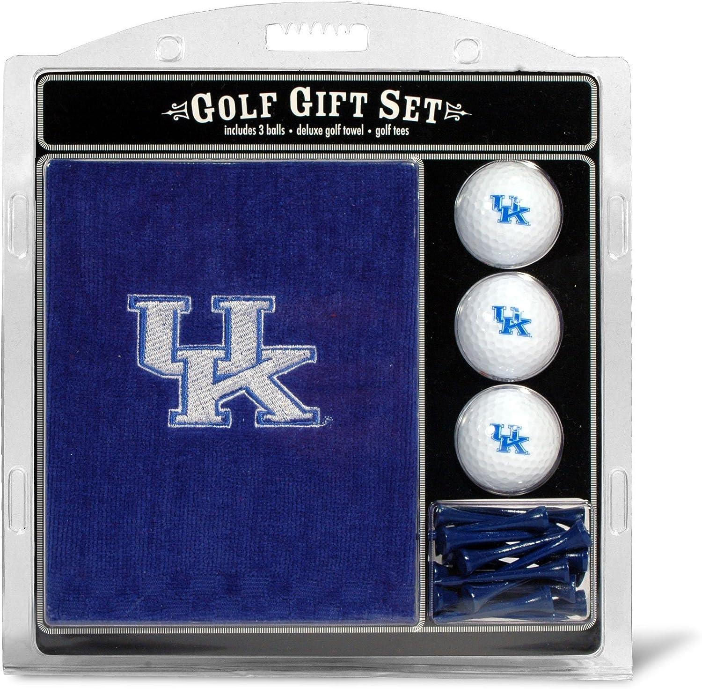 "Team Golf NCAA Kentucky Wildcats Gift Set Embroidered Golf Towel, 3 Golf Balls, and 14 Golf Tees 2-3/4"" Regulation, Tri-Fold Towel 16"" x 22"" & 100% Cotton : Sports Fan Golf Towels : Sports & Outdoors"