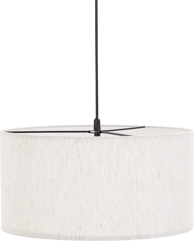 Umi. by Amazon - Lámpara de techo, pantalla de tela, cilíndrica, 39,88 cm, diámetro, 101,6 cm: Amazon.es: Iluminación