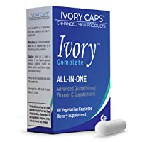 Ivory Caps Ivory Complete ALL-IN-ONE Advanced Glutathione/Vitamin C Supplement with Alpha Lipoic Acid, Bearberry Extract and Green Tea Extract