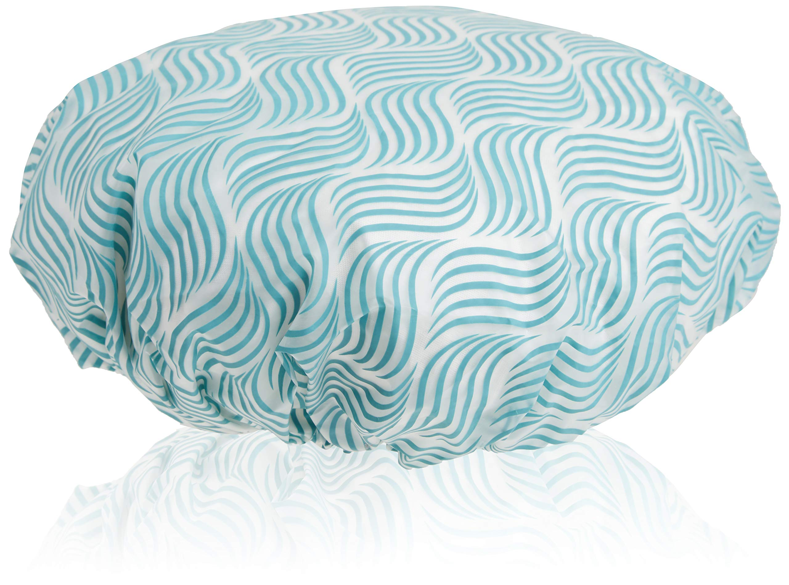 EcoTools Reusable Shower Cap for Women With Travel Storage Case, Made with Recycled and Sustainable Materials