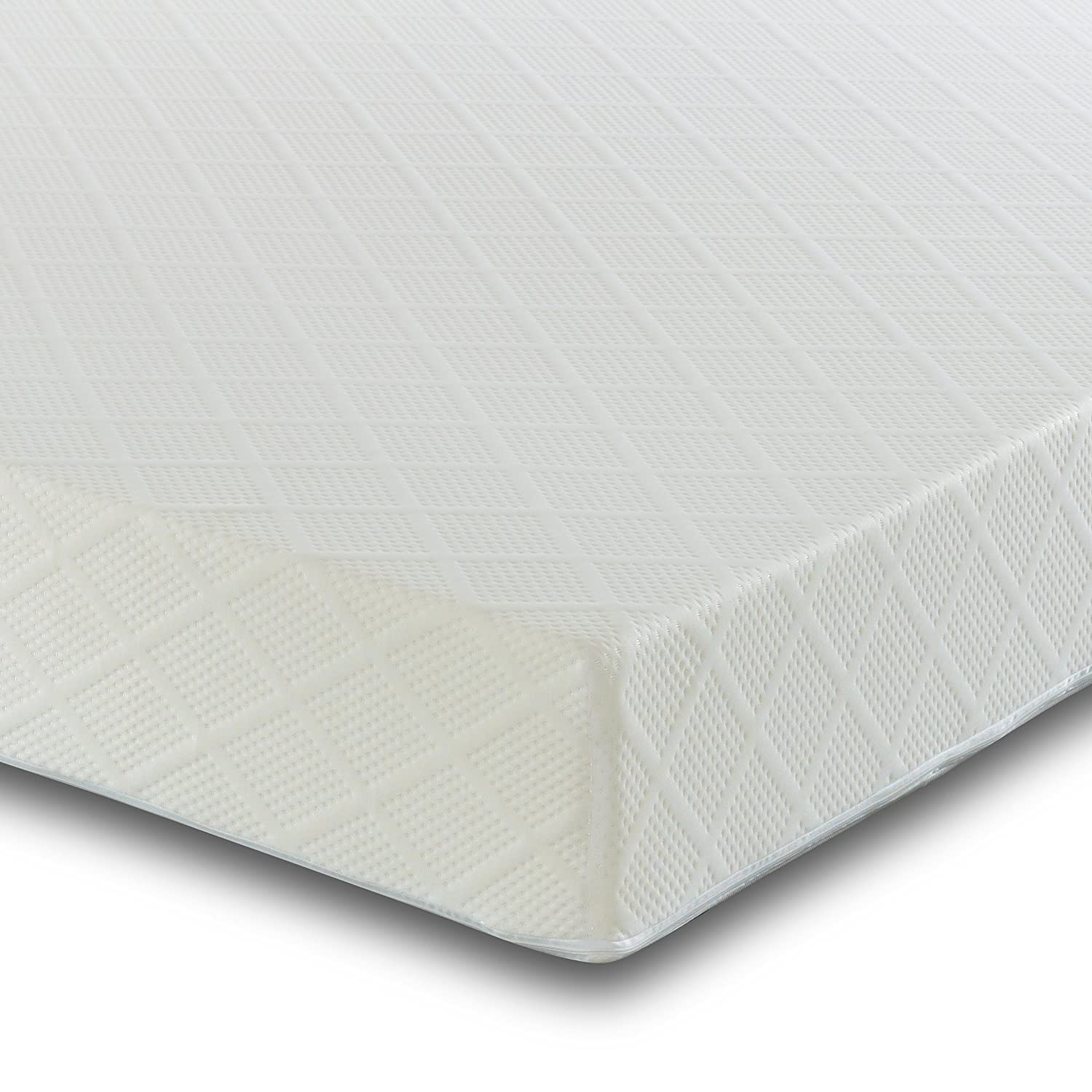 4Ft6 Double Reflex Foam Mattress with Two Pillows - Orthopaedic Support - Hypoallergenic - Firm Visco Therapy WS10MFM46