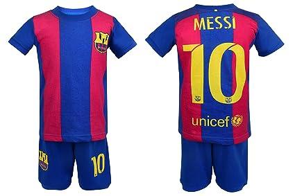 f125bdb28d0 Soccer PJs Barcelona Messi 10 Pajama ✓ Barca Messi #10 Soccer t-shirt &  Shorts Kids set 100% Cotton Sport Pyjama Sleepwear Set Jammies✓ Premium  Quality ...