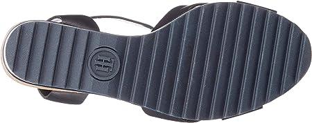 Tommy Hilfiger Colored Stripes Wedge Sandal, Sandalias con Plataforma para Mujer
