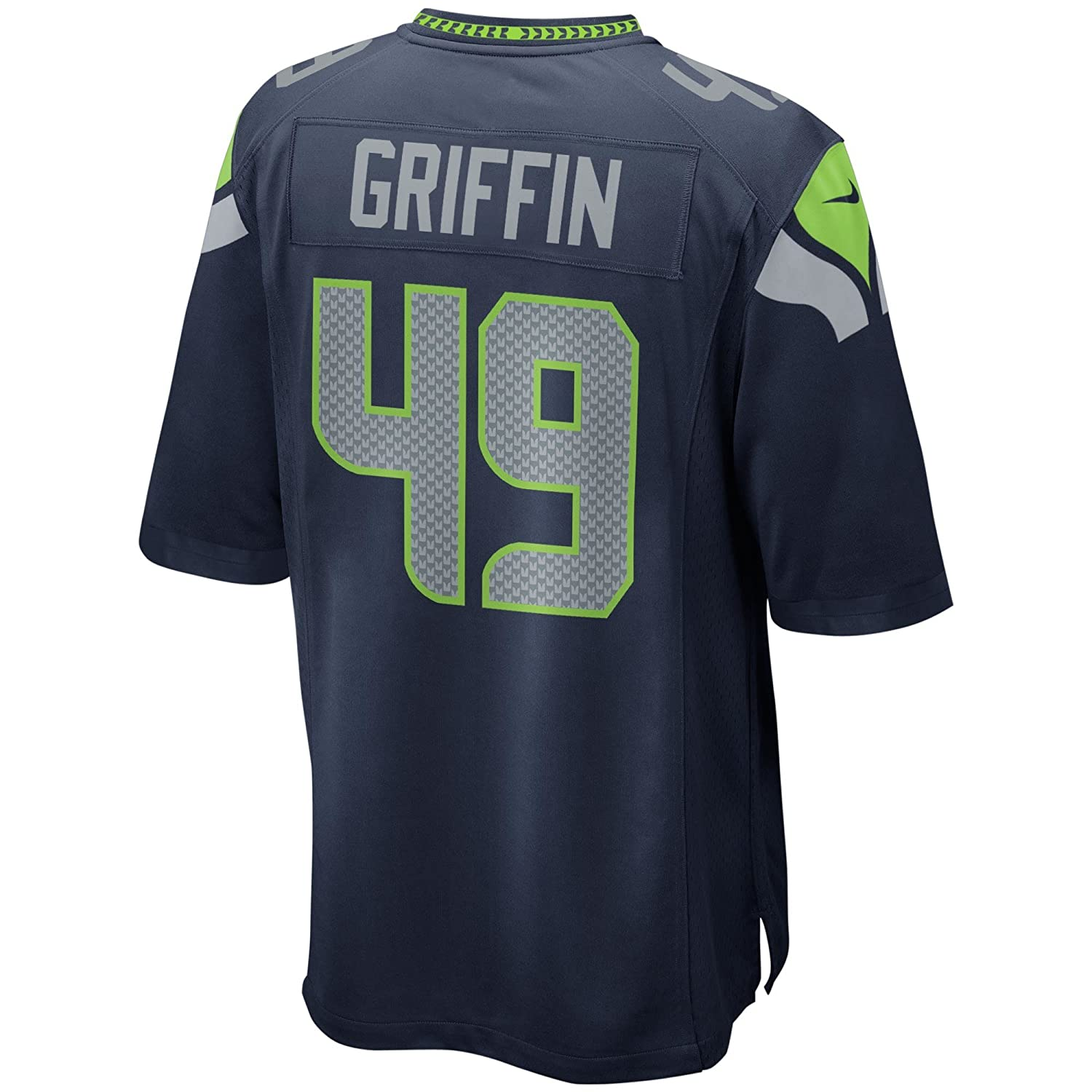Amazon.com   NIKE Shaquem Griffin Seattle Seahawks College Navy Game Jersey  - Men s Large   Sports   Outdoors c2e0b35f1
