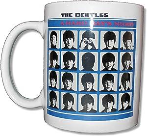 "The Beatles ""Hard Day's Night"" White Ceramic Collectible Coffee Mug"