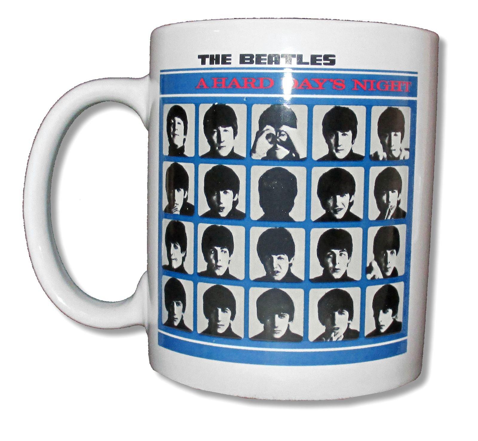 "The Beatles ""Hard Day's Night"" White Ceramic"